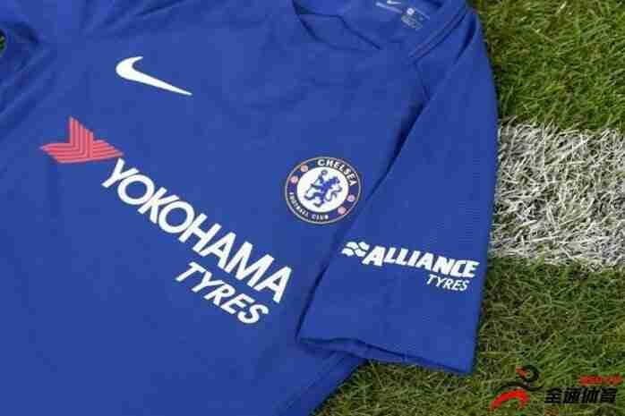 切尔西新赛季的球衣将印上轮胎广告