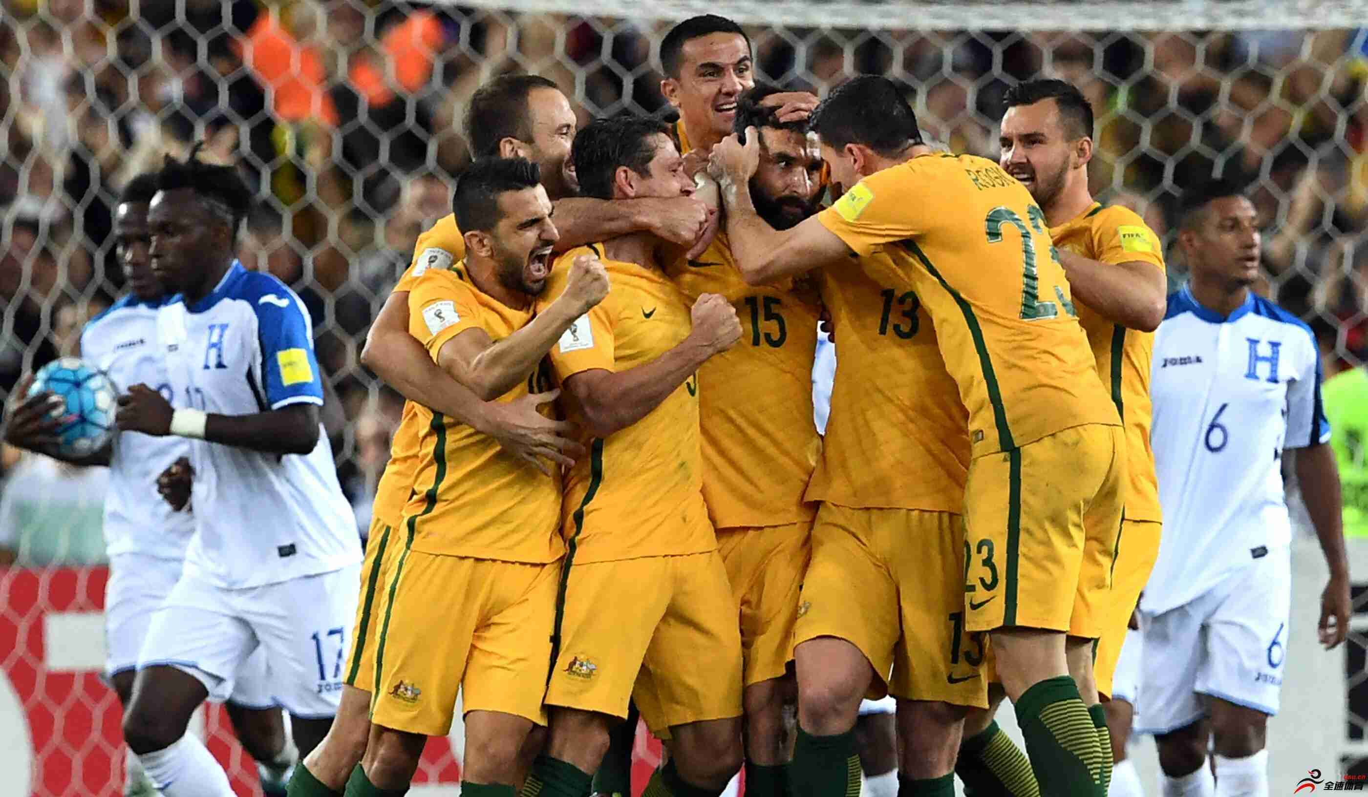 澳大利亚国家队内已清洗所有中超球员