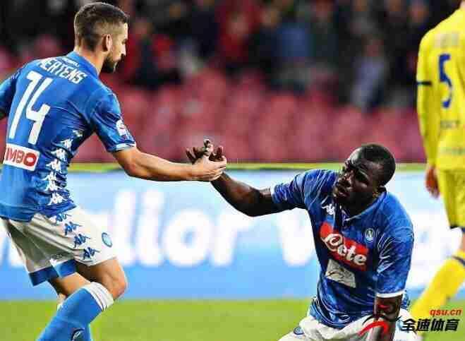 甲级联赛那不勒斯主场1-0战胜罗马