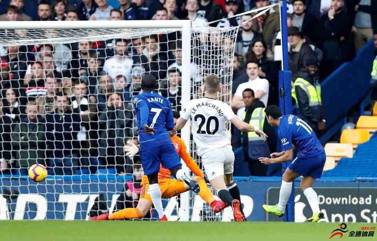 英超-坎特助攻佩德罗破门 切尔西半场1-0富勒姆
