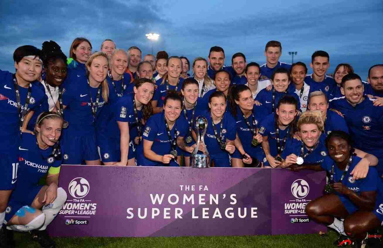 切尔西女足拿下英足总女子联赛总冠军