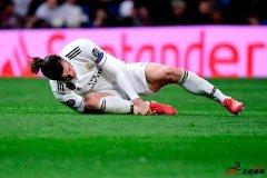 贝尔因脚踝受伤只能在球队作壁上观了