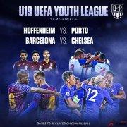 青年欧冠半决赛:巴萨vs切尔西,霍芬海姆vs波尔图