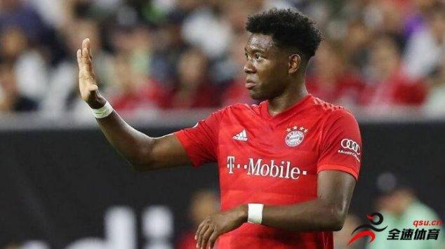 巴塞罗那希望签下拜仁慕尼黑左边卫阿拉巴