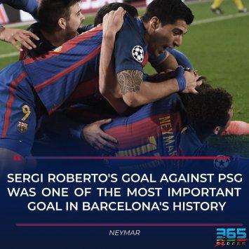 罗贝托的读秒绝杀球被选为巴萨史上最伟大进球