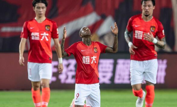 广州恒大主场1-1战平重庆斯威