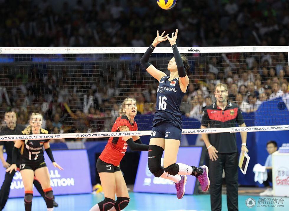 中国女排3-1完胜战胜德国女排
