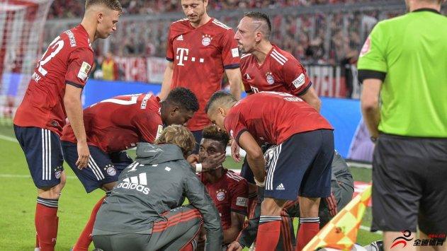 拜仁慕尼黑已证实科曼韧带撕裂