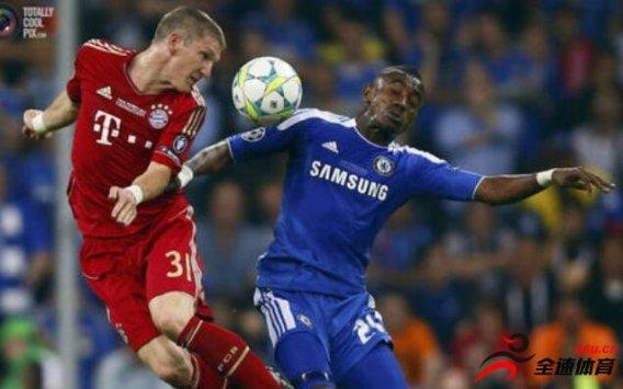 拜仁慕尼黑vs切尔西,双方公布首发阵容