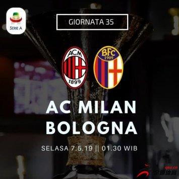 AC米兰vs博洛尼亚首发阵容公布:卡尔达拉、博纳文图拉伤缺
