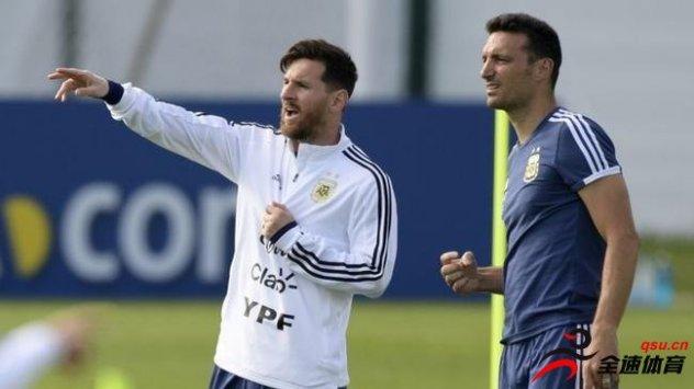 阿根廷主帅斯卡洛尼确认,梅西会在11月正式