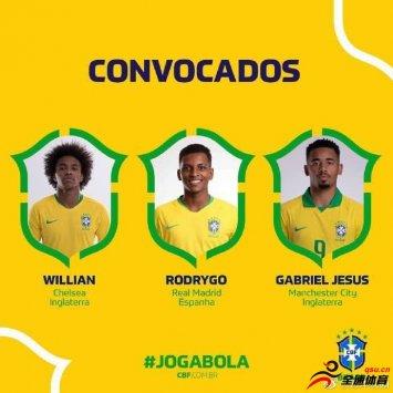 巴西国家队公布最新一期名单,内马尔因伤缺