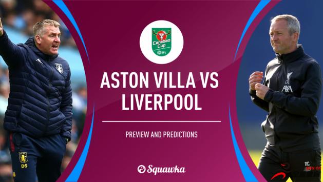 阿斯顿维拉vs利物浦,双方公布了首发名单