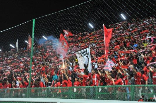 泰国联赛冠军强力有竞争者蒙通联的主场 SCG体育场