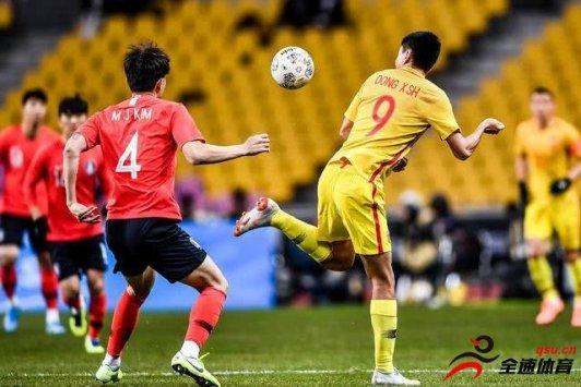 韩国男足以1:0战胜了中国男足选拔队