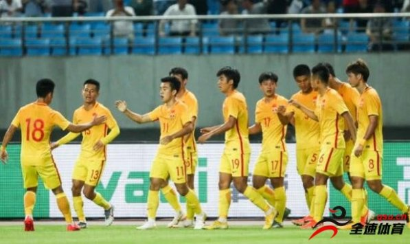 中国U20国家队2-0战胜巴勒斯坦U20国家队