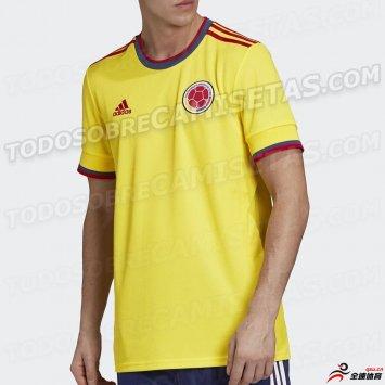 哥伦比亚国家队2020/21年主场球衣