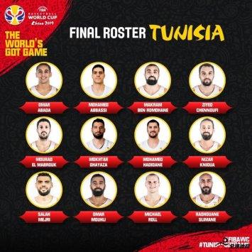 突尼斯男篮国家队公布12人大名单