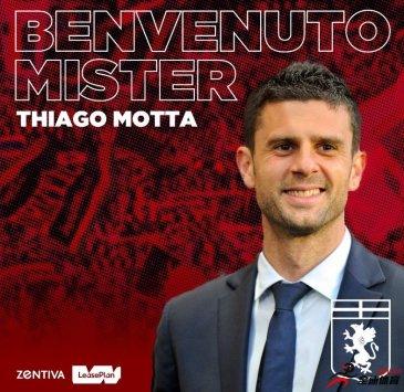 热那亚官方宣布蒂亚戈-莫塔出任球队新帅