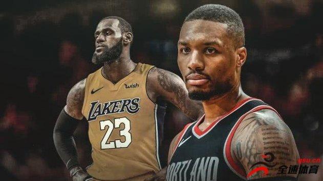 利拉德:本季MVP应属于詹姆斯