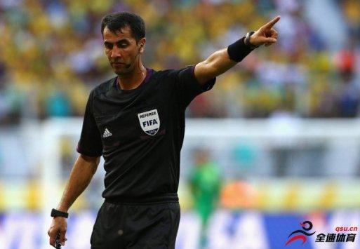 拉夫尚-伊尔马托夫受邀执法本赛季中国足协杯的决赛首回合比赛