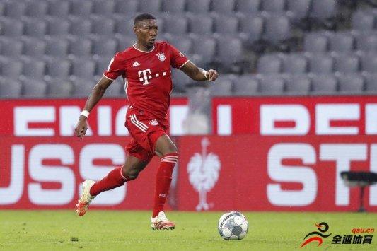 奥地利球星阿拉巴效力于拜仁的时间就将达到11个赛季