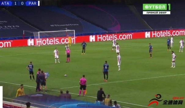 亚特兰大vs巴黎第70分钟,纳瓦斯疑似受伤