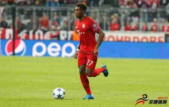 拜仁后卫阿拉巴希望签下一份2500万欧元年薪的5年合同