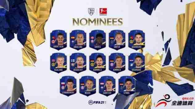 FIFA21年度最佳阵德甲14人候选