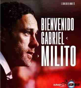 阿根廷青年人队官方宣布加布里埃尔-米利托出任球队主帅