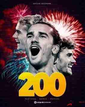 格列兹曼西甲生涯的第200胜
