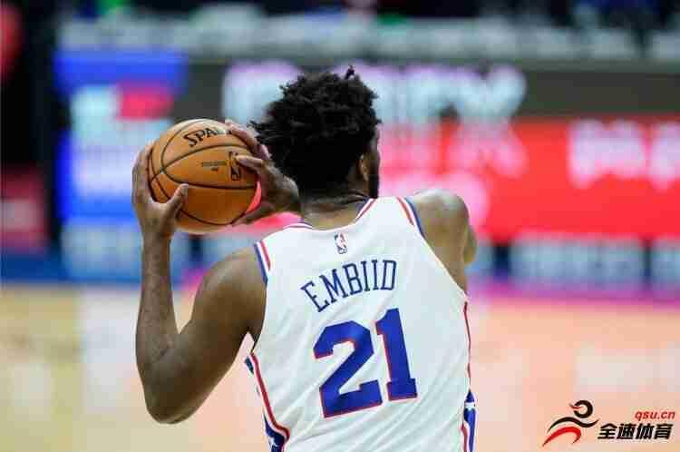 恩比德:我做了投篮假动作,拔起投篮然后那一球就进了