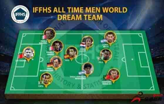 IFFHS评足坛历史梦之队:贝利梅罗组锋线三叉戟,马拉多纳入选