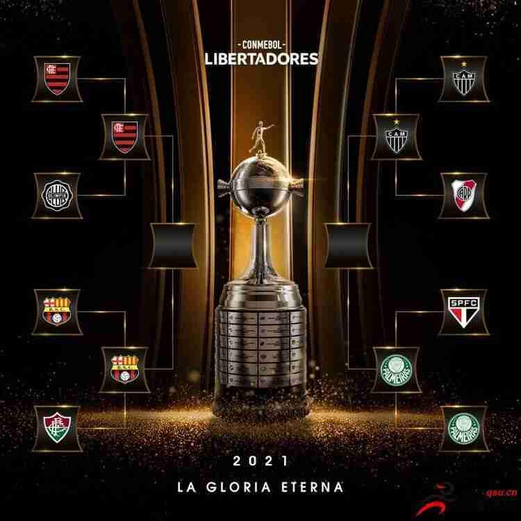 解放者杯四强对阵:弗拉门戈VS巴塞罗那SC 米内罗VS帕尔梅拉斯